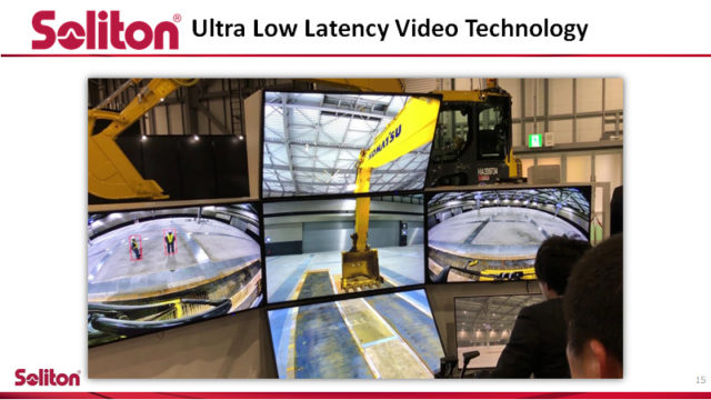 ultra low latency video technology. Pictures from when SOliton remote operated a tractor 174 miles from the tractors location.