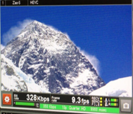 Mount Everest and a picture of 328 KBPS has proof that video can be transmitted from anywhere in the world